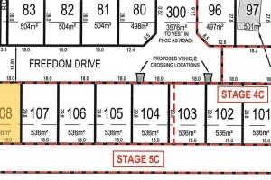 Lot 108 Freedom Drive plan